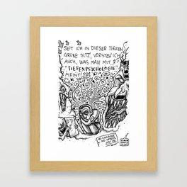 Tiefenpsychologie Framed Art Print