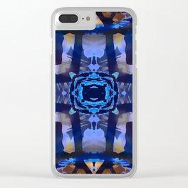 Indigo Portal Clear iPhone Case
