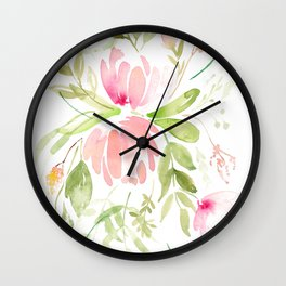 Bouquet of Proteas and fynbos Wall Clock