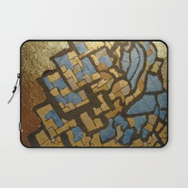 Gold cubic Eiffel tower close up Laptop Sleeve