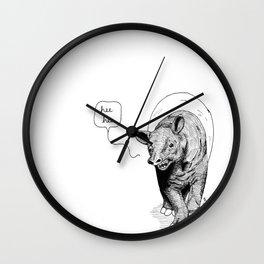 The happiest tapir Wall Clock