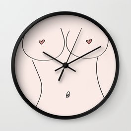 Free Love Pink Wall Clock