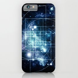 Galaxy Sacred Geometry: Golden Mean iPhone Case