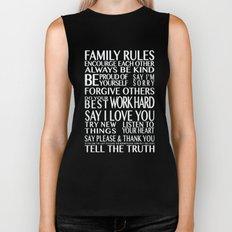 Family Rules Biker Tank