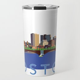 Back Bay Boston Skyline Travel Mug