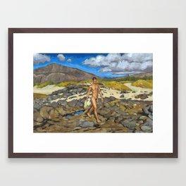 Koko Crater Day Framed Art Print