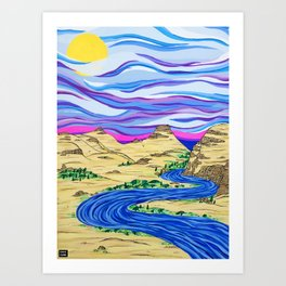 Columbia River Art Print