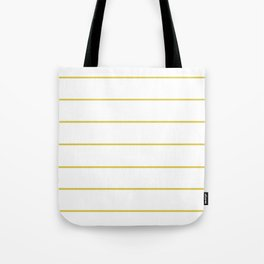 THIN MUSTARD STRIPE Tote Bag