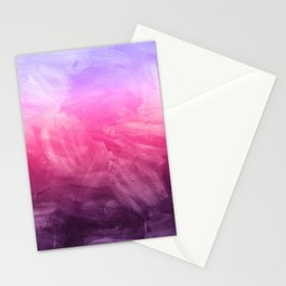 Watercolor Purple Fuchsia Ombre Painting Stationery Cards