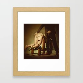 Nude Woman On the Whippingbench Framed Art Print