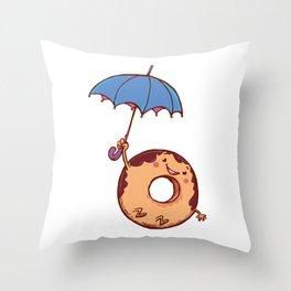 donut in air Throw Pillow
