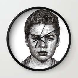 Little Jimmy Finkle Leader of the Gumball Gang Wall Clock