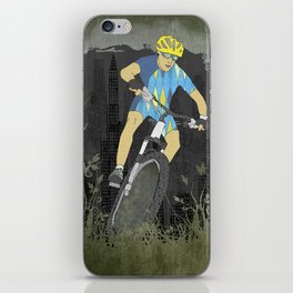 Bicycle Guy iPhone Skin