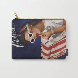 Woman putting on lipstick Carry-All Pouch