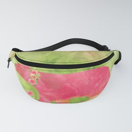 Bear  with flowers - Animal watercolor illustration Fanny Pack
