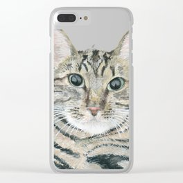 The portrait of the cat Clear iPhone Case