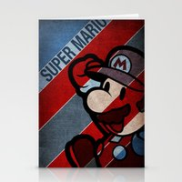 super mario Stationery Cards featuring SUPER MARIO by sbs' things