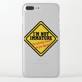 Funny Description Immature Tshirt Design You stinky butt poo poo head Clear iPhone Case