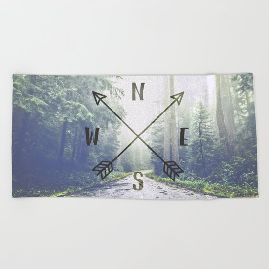 Forest Compass Beach Towel