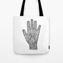Pisces Hand / Hamsa Tote Bag