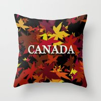 canada Throw Pillows featuring Canada by megghan18