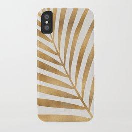 Metallic Gold Palm Leaf iPhone Case