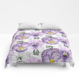 Pansy pattern Comforters