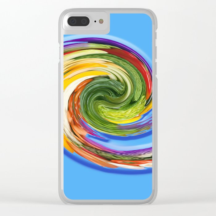 The whirl of life, W1.9C Clear iPhone Case