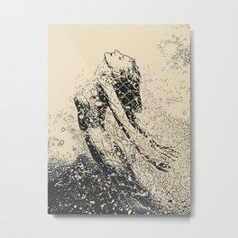 Gold Fish - sexy nude girl in nets, mermaid erotic surreal work Metal Print
