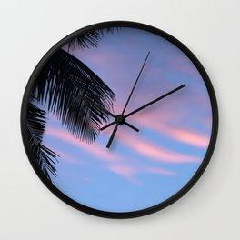 Palms leaf Wall Clock