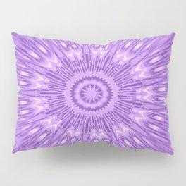 Lavender Purple Mandala Explosion Pillow Sham