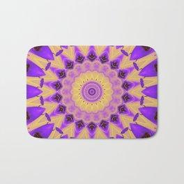 Bold Purple and Yellow Mandala Bath Mat