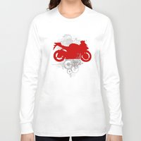 racing Long Sleeve T-shirts featuring Racing by Ezgi Kaya