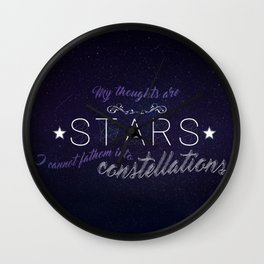 My Thoughts Are Stars - TFIOS Wall Clock