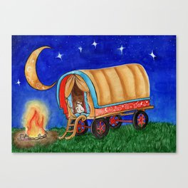 Gypsy Chicken in a covered Wagon Canvas Print