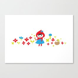 Red Riding Hood in the Forest Canvas Print
