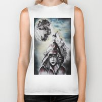 red riding hood Biker Tanks featuring Little Red Riding Hood  by Bella Harris