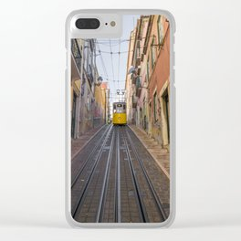 Lisbon Tram Clear iPhone Case
