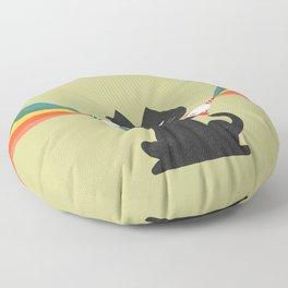 Ray gun cat Floor Pillow