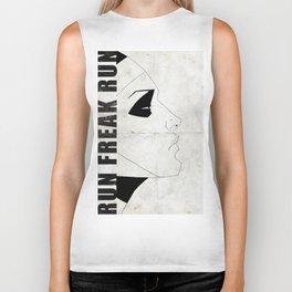 Run Freak Run - White Biker Tank