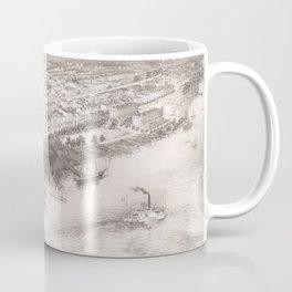 Vintage Pictorial Map of Hoboken NJ (1860) Coffee Mug
