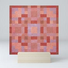 sarah - vintage terracotta geometric symmetrical pattern Mini Art Print