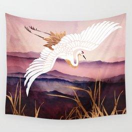 Elegant Flight III Wall Tapestry