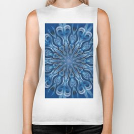 Blue Center Swirl Biker Tank