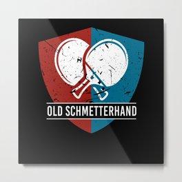Old Schmetterhand Table Tennis Pingpong Metal Print