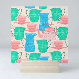 Jugs and Cups Pattern Mini Art Print