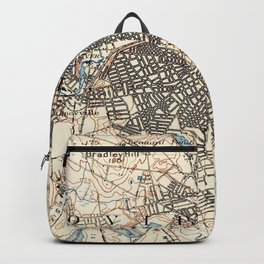 Vintage Map of Providence Rhode Island (1887) Backpack