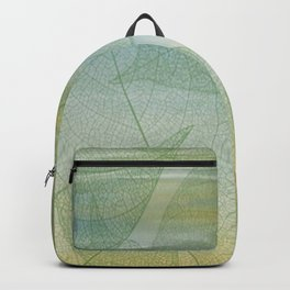 Delicate Painterly Leaves Backpack