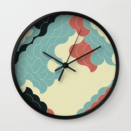 Abstract Geometric Artwork 90 Wall Clock