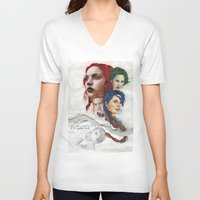 eternal sunshine of the spotless mind V-neck T-shirts featuring Eternal Sunshine by Laura O'Connor